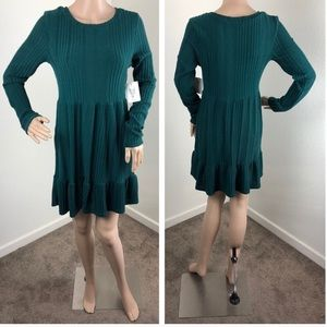 NEW Vibe Sportswear forest green sweater dress